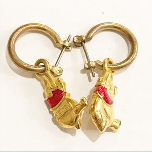 Disney Pooh Earrings Collectible Cartoon